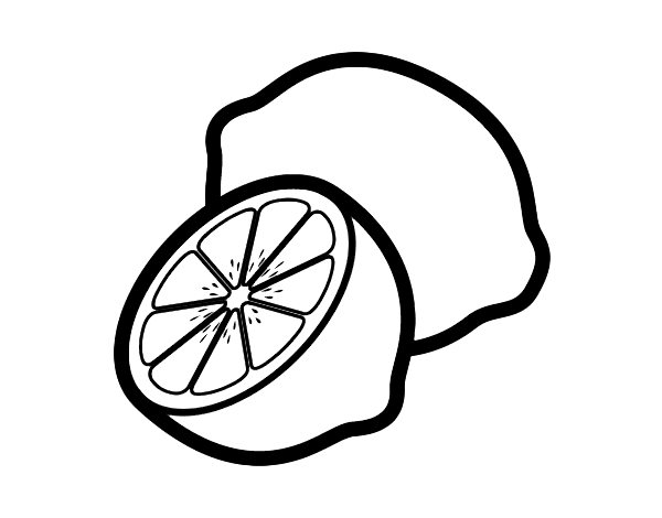 Lemons coloring page for Lemon coloring page
