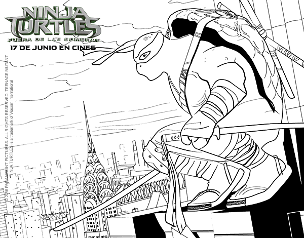 Leonardo Ninja Turtles Coloring Page Coloringcrew Com