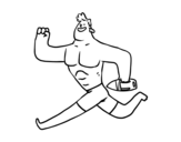 Lifeguard running coloring page