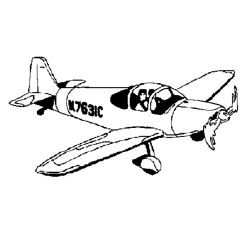 Light aircraft coloring page