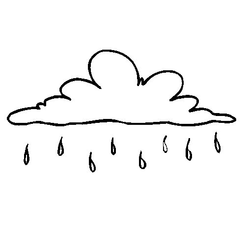 Light rain coloring page