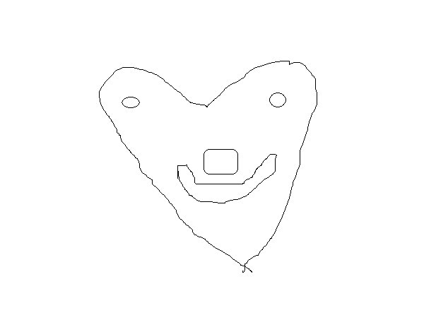 Likeable heart coloring page