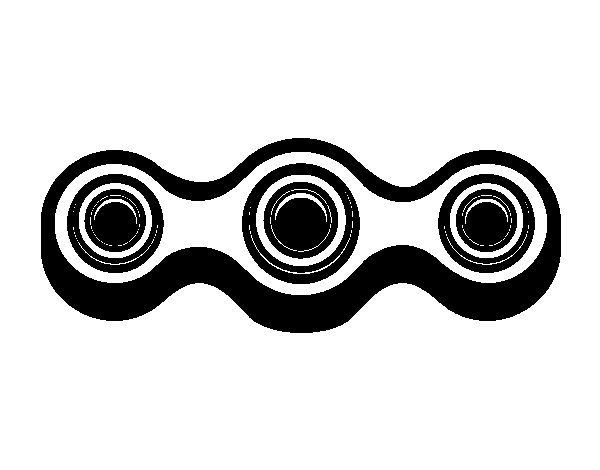 Linear spinner coloring page