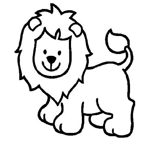 Lion 4 coloring page