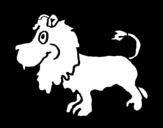Lion profile coloring page