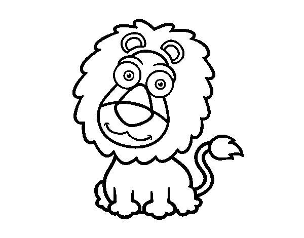 Lion sympathetic coloring page