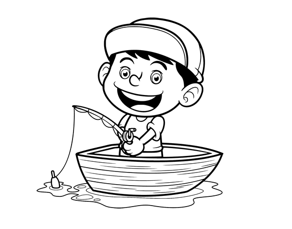 little boy coloring pages - photo#34