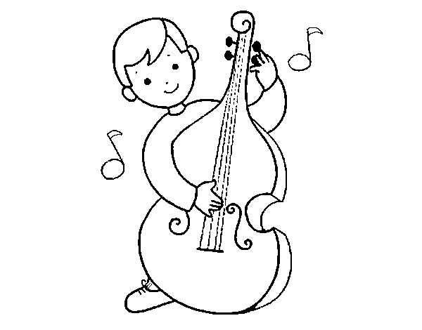 little boy with cello coloring page coloringcrewcom