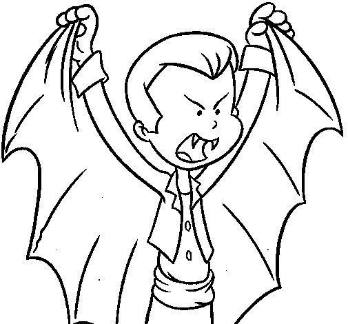 Little Dracula coloring page