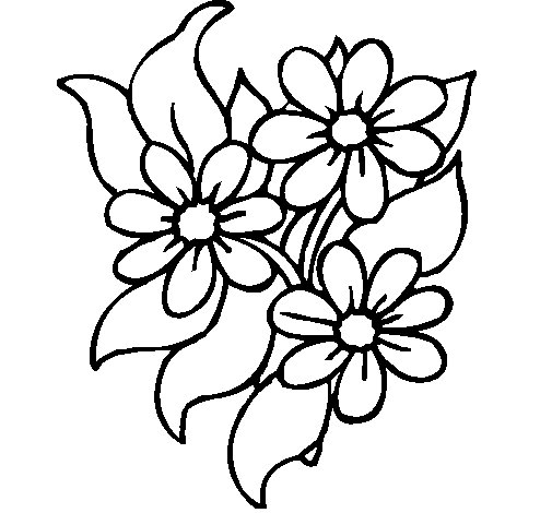 Little flowers coloring page