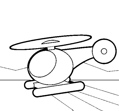 Little helicopter coloring page