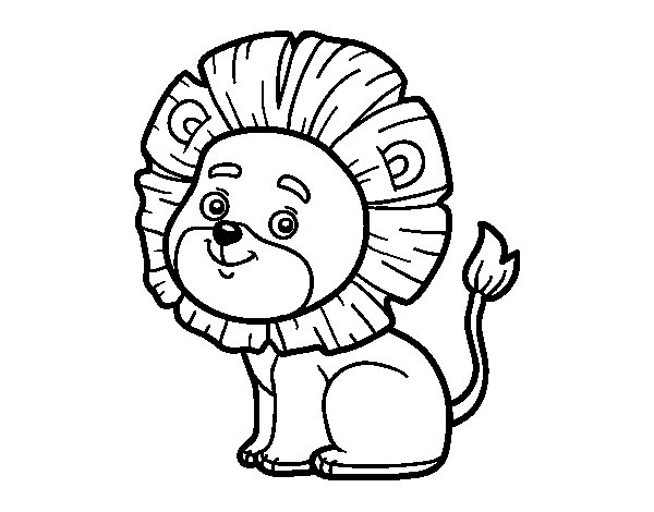 Little lion coloring page