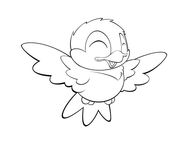 small birds coloring pages free - photo #9