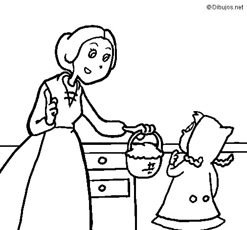 Little red riding hood 2 coloring page