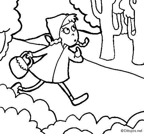 Little red riding hood 4 coloring page
