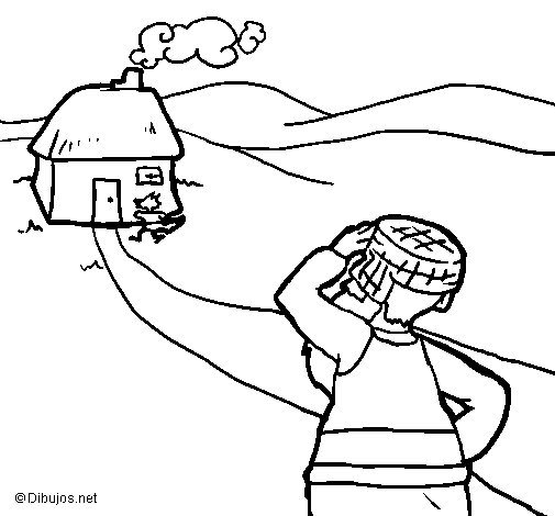Little red riding hood 8 coloring page