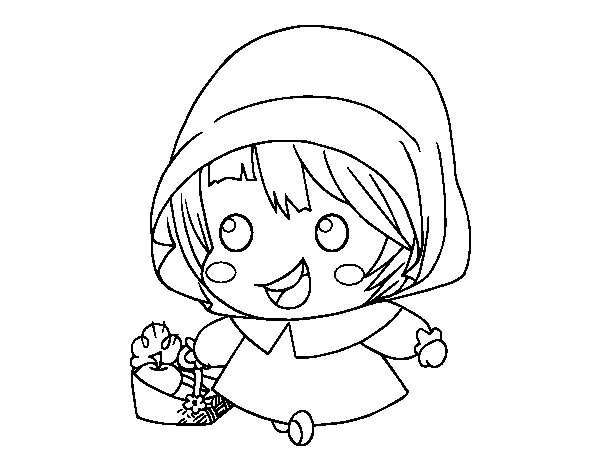 Little Red Ridinghood coloring page