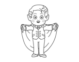 Little vampire coloring page