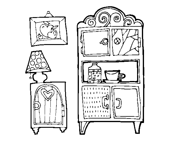 Living room furniture coloring page - Coloringcrew.com