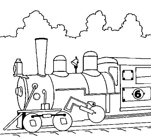 Locomotive coloring page