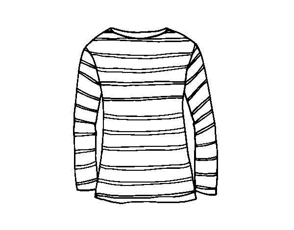 Long-sleeve T-shirt coloring page - Coloringcrew.com