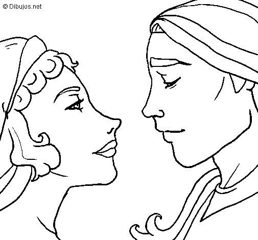 Look for boyfriends coloring page