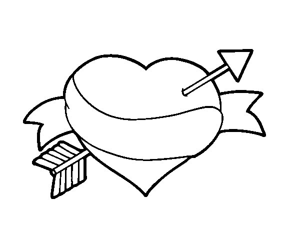 Love at first sight coloring page