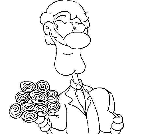 Lovers coloring page