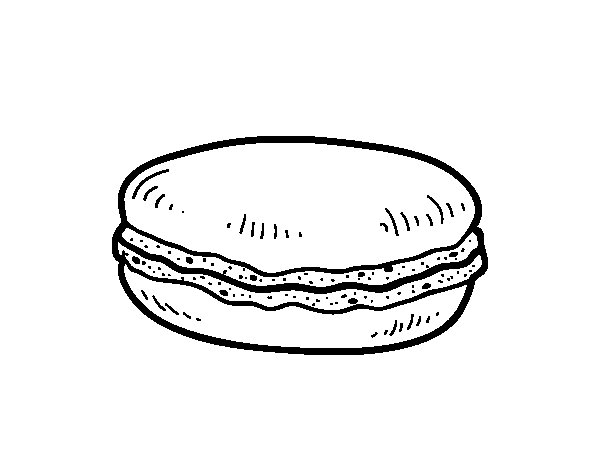 Macaron coloring page