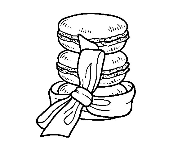 Macarons coloring page