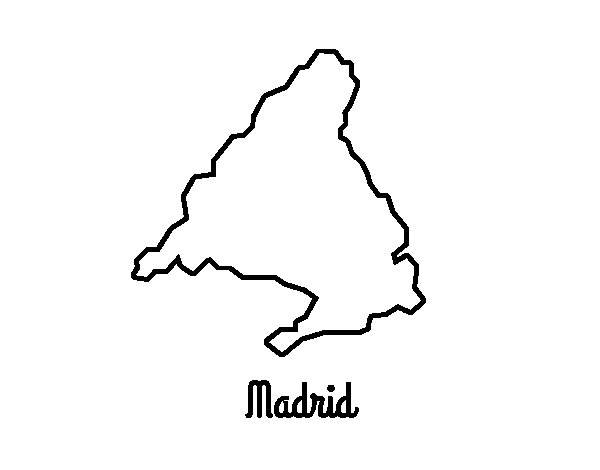Madrid coloring page