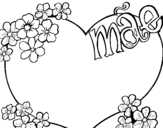 Mae Heart coloring page