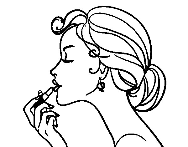 Make Up The Lips Coloring Page