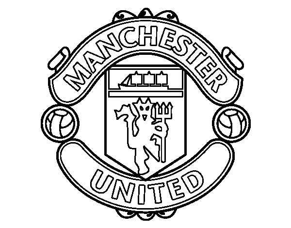 Manchester United FC crest coloring page