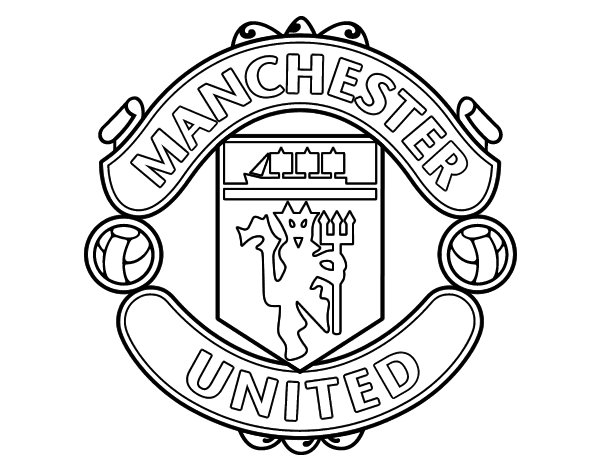 manchester united coloring pages manchester united fc crest coloring page