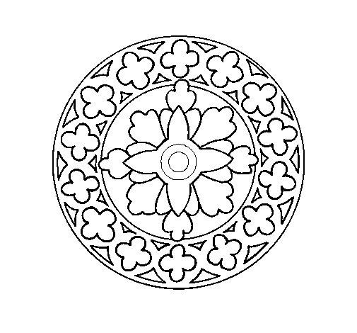 Mandala 21 coloring page
