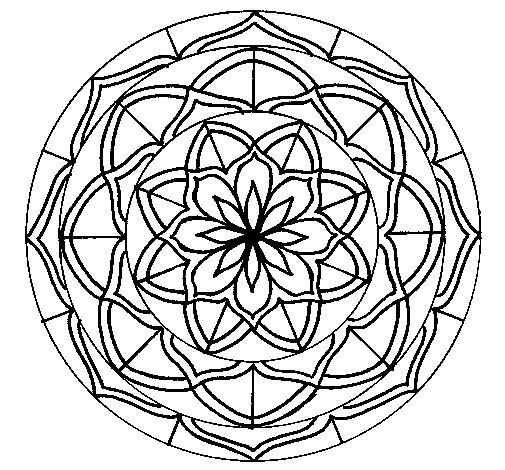 Mandala 6 coloring page