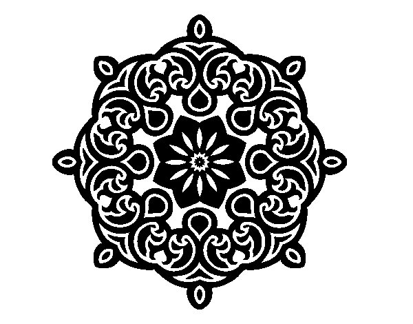 Mandala cloud coloring page