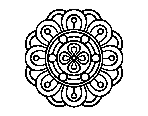 Mandala creative flower coloring page