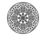 Mandala crop circle coloring page