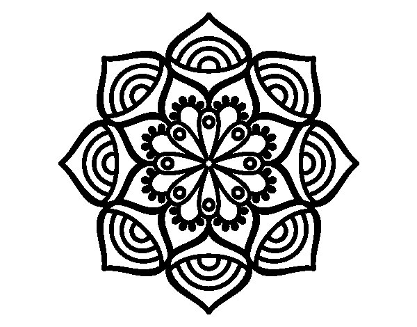 Mandala exponential growth coloring page