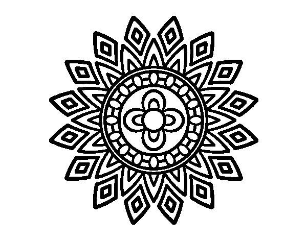 Mandalas Para Colorear De Bts: Mandala Flashes Coloring Page