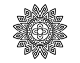 Mandala flashes coloring page