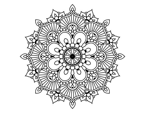 mandala floral flash coloring page. Black Bedroom Furniture Sets. Home Design Ideas