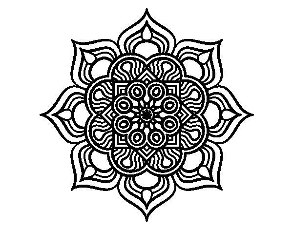 mandala flower of fire coloring page coloringcrewcom