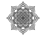 Mandala flower of fire coloring page