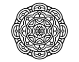 Mandala for mental relaxation coloring page