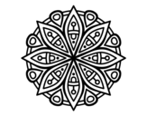 Mandala for the concentration coloring page