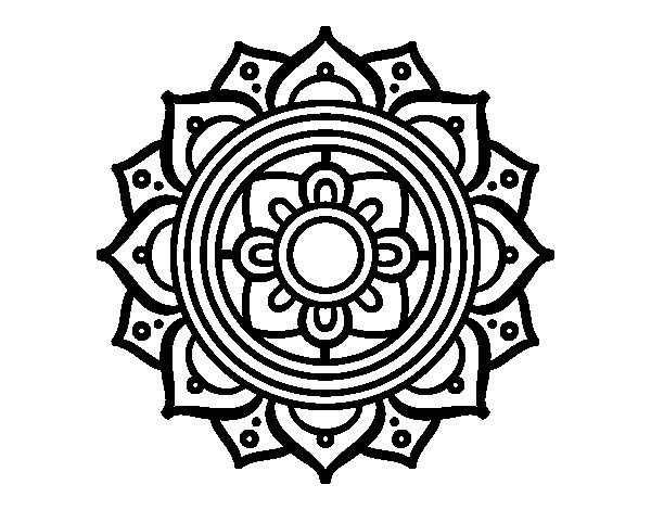 Mandala greek mosaic coloring page