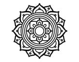 Mandala greek mosaic coloring page